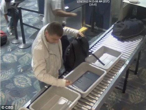 The Transportation Security Administration captured the incident at Fort Lauderdale-Hollywood International Airport on January 18