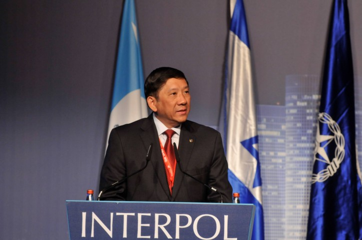 Interpol's president Khoo Boon Hui speaks at the convention. The Israel Police is hosting colleagues from around the world for an international police organization's European Regional Convention in Tel Aviv on Tuesday. May 8 2012. Photo by Yossi Zeliger/Flash90