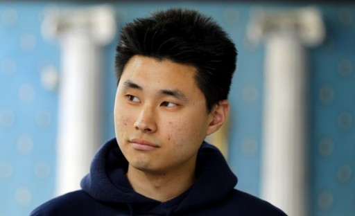 Daniel Chong appears at a news conference where he discussed his detention by the DEA. The 24-year-old was forgotten by federal drug agents and left in a holding cell for five days without food, water or access to a toilet says he drank his own urine to survive.