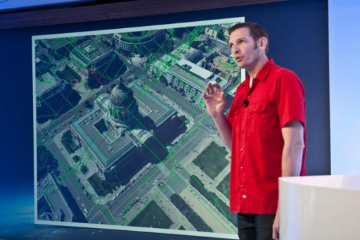 Google Earth Product Manager Peter Birch introduces the new high-definition 3D cities feature at Google's campus in San Francisco. Google also introduced offline Maps access and Trekker, a way to map ground-level views by foot.</p><div id=