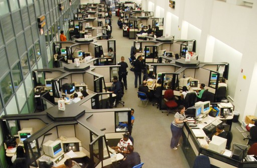 Police operators work in the 911 call center in Brooklyn. Photo Credit: NYPD Photo Unit. NYPD.org