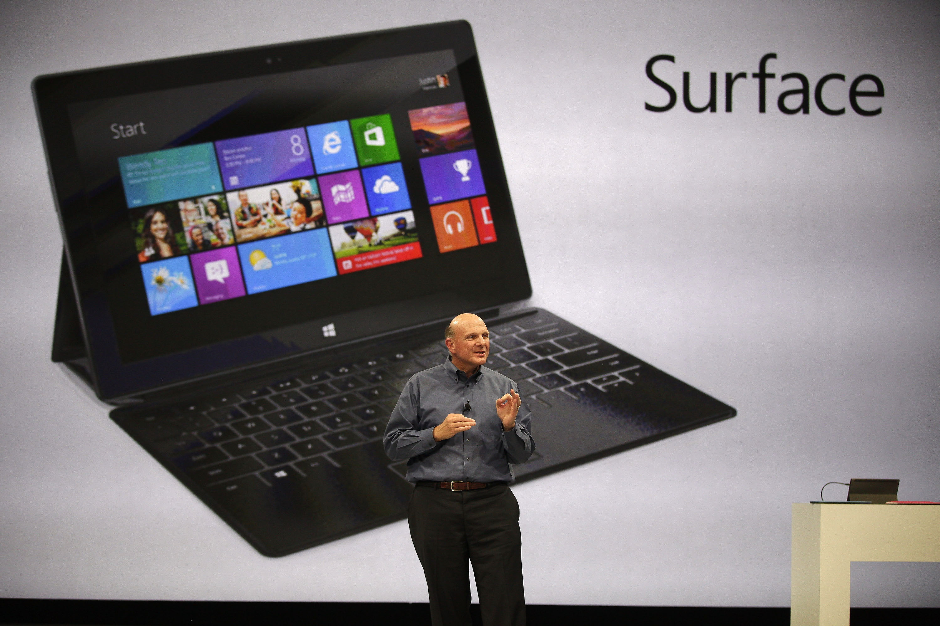 Los Angeles, CA - Microsoft Unveils 'Surface' Tablet Computer