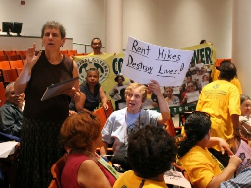 More than 200 people gather at Cooper Union to protest the hikes. PHOTO CREDIT DNAinfo/Jill Colvin