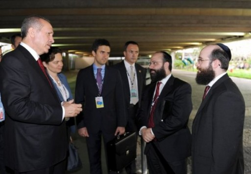Two American-Jewish men approached Turkish PM at the Rio+20 UN Conference. Photo: Anatolia news agency