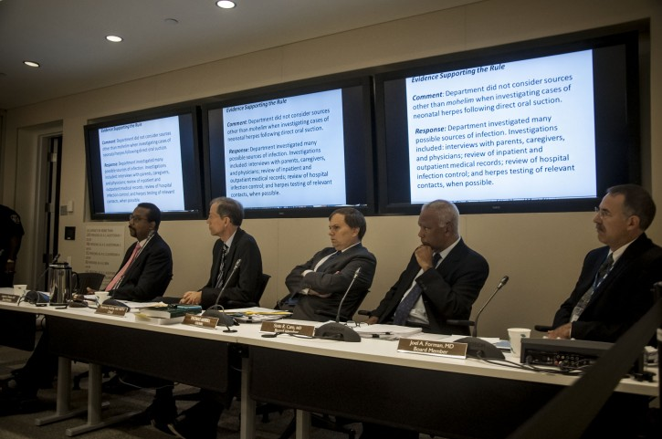 The board of health before the vote on Sept 12 2012. Photo: Stefano Giovannini for VIN News