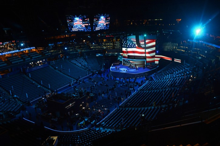 A general view of the Time Warner Cable Arena before the start of the 2012 Democratic National Convention (DNC), in Charlotte, North Carolina, USA, 04 September 2012. The DNC takes place 04-06 September 2012.  EPA/MICHAEL REYNOLDS