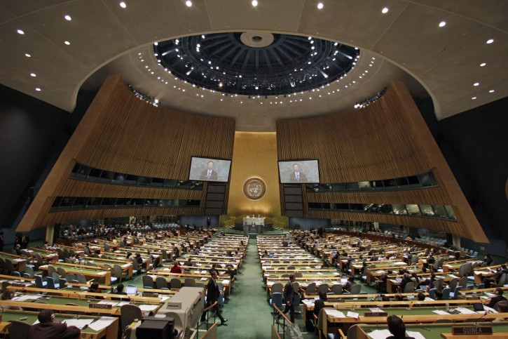 File photo of United Nations General Assembly at U.N. headquarters, 2012. (AP Photo/Frank Franklin II)