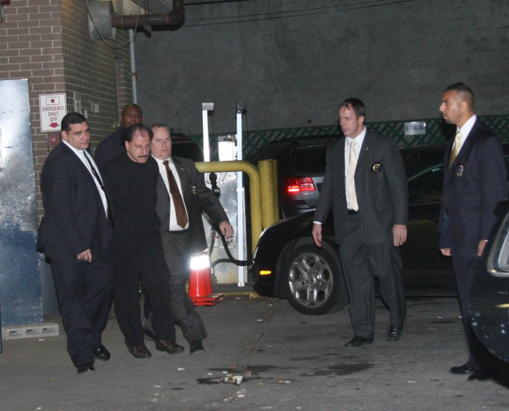 Accused serial killer Sal Perrone is walked from the 67th Precinct on November 21st 2012.  Photo Shimon Gifter/VINNews