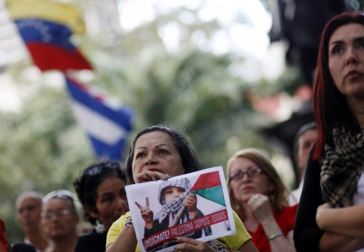 FILE - Dozens demonstrate against Israel's attack in Gaza Strip, at the Plaza de Bolivar, Caracas, Venezuela, 21 November 2012. EPA