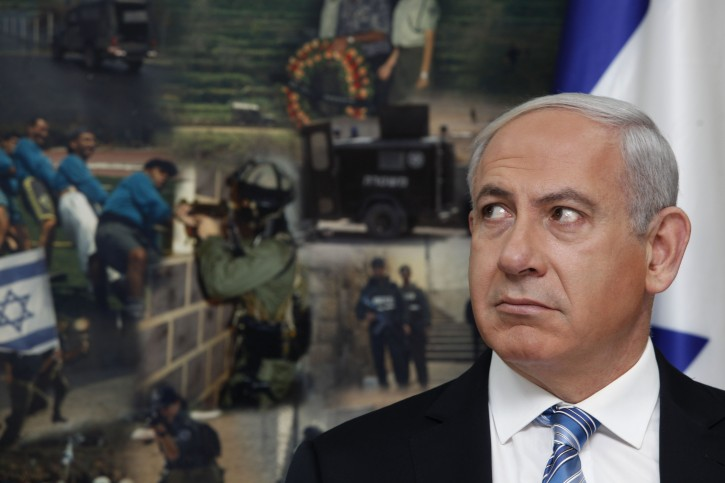 Israeli Prime Minister Benjamin Netanyahu looks on during a visit to the national police headquarters in Jerusalem, Israel, 22 November 2012. Palestinians in the Gaza Strip and Israelis woke 22 November to their first violence-free morning in more than a week, as a ceasefire ending eight days of fierce fighting took hold. EPA