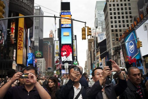 New york new york city breaks tourism record for third for Main attractions in new york city