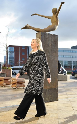 US Secretary of State Hillary Rodham Clinton in Belfast, 07 December 2012. EPA/Michael Cooper / POOL