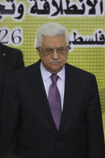Palestinian President Mahmoud Abbas, attends a meeting of his Fatah Party, at his headquarter in the West Bank town of Ramallah, 26 December 2012. EPA/ATEF SAFADI
