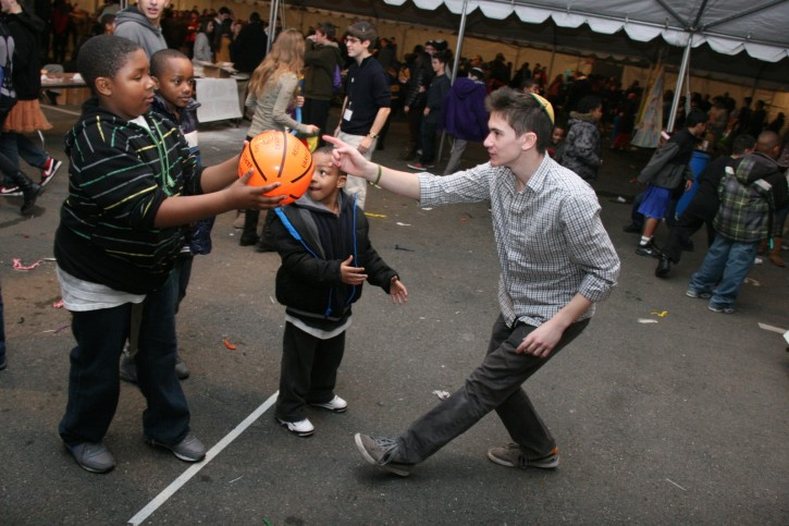 Jewish teens spent this past Thursday night hosting a carnival for underprivileged youth in Hoboken, New Jersey whose lives have been adversely affected by Hurricane Sandy. Photo: Shimon Gifter