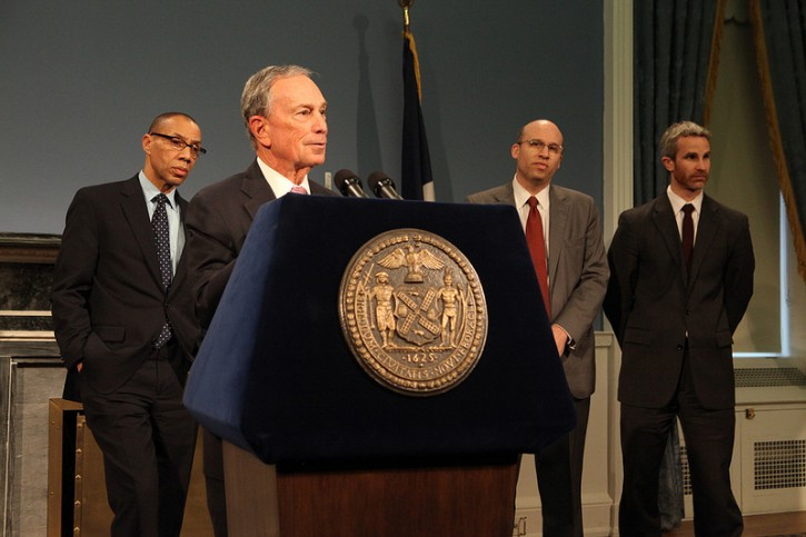 Mayor Bloomberg updates New Yorkers on status of teacher evaluation negotiations. January 17, 2013 (Photo Credit: Kristen Artz By nycmayorsoffice/Flickr)