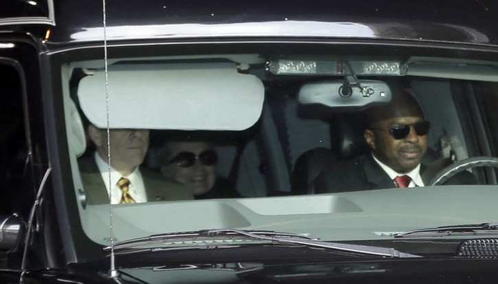 Secretary of State Hillary Clinton, center, is transported in the New York Presbyterian Hospital complex Wednesday, Jan. 2, 2013, in New York.</p>  <p>PHOTO BY FRANK FRANKLIN II/ASSOCIATED PRESS