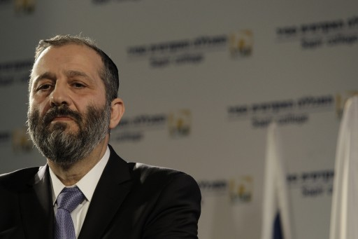 File photo of Rabi Aryeh Deri member of Shas party. Photo by Tsafrir Abayov/Flash90