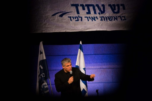 Israeli politician Yair Lapid and chairman of the Yesh Atid party speaks during a campaign rally in Jerusalem, January 15, 2013. Photo by Yonatan Sindel/Flash90