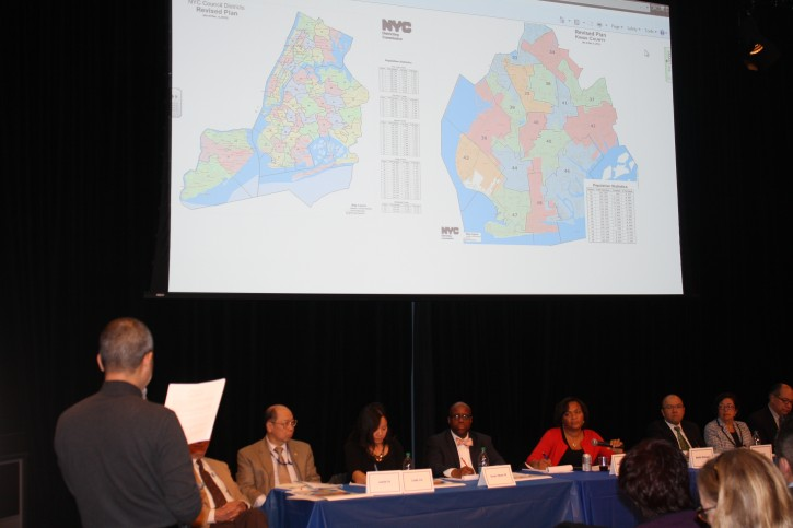 Testifying at the redistricting hearing Jan. 10 2013 in Brooklyn. Photo: Ross Barkan