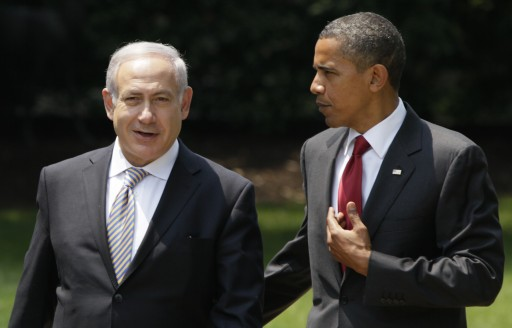 In this July 6, 2010 file photo, President Barack Obama talks with Israeli Prime Minister Benjamin Netanyahu as they walk to Netanyahu's car outside the Oval Office of the White House in Washington. (AP Photo/Carolyn Kaster, File)