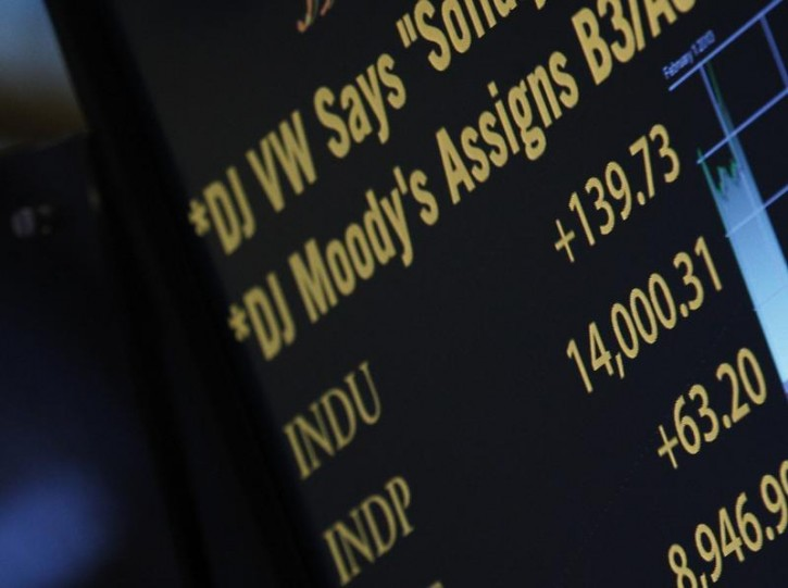 A screen on the trading floor shows the Dow Jones Industrial average over 14,000 at the New York Stock Exchange, February 1, 2013. U.S. stocks extended gains on Friday, with the Dow industrials trading above 14,000 for the first time since October 2007, as jobs and manufacturing data pointed to a stronger U.S. economy.   REUTERS/Brendan McDermid