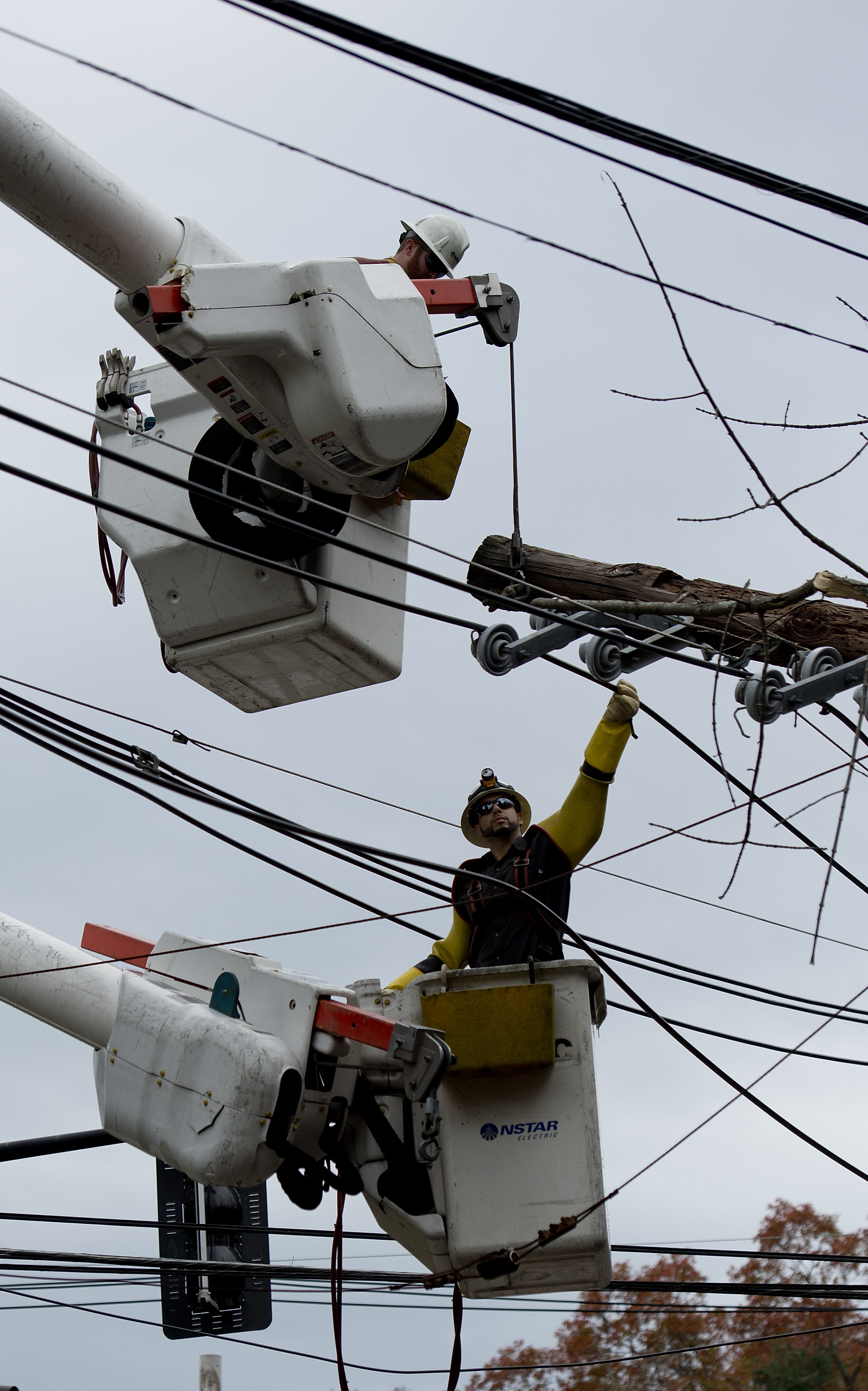 New York, NY - City Will Study Burying Power Lines After Sandy