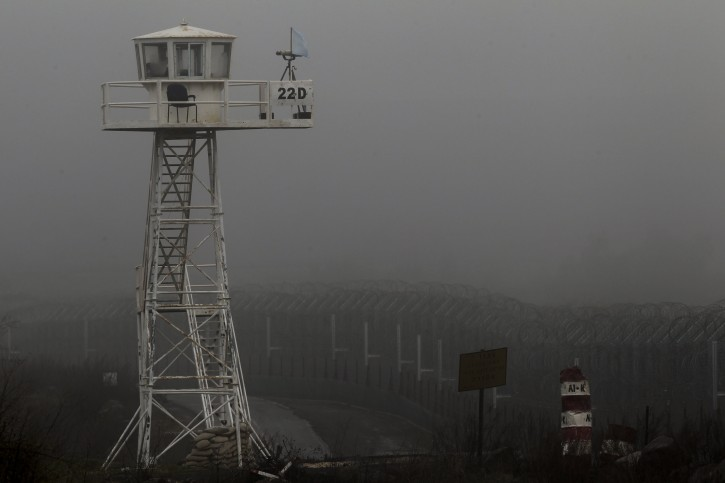 A UN observation tower located on the  Israeli Syrian border in the center of the Golan Heights, 01 February 2013. International media reported that Israel launched on 30 January 2013, an overnight air strike on Lebanon's border with Syria. The target of the attack was apparently an arms convoy moving from Syria to Lebanon.  EPA/ATEF SAFADI