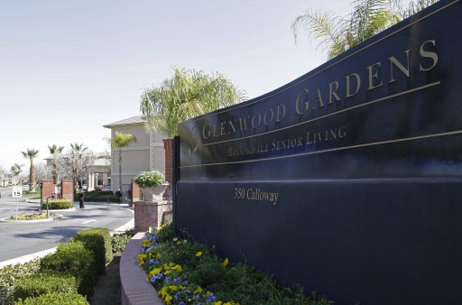 "Shown is the main gate of Glenwood Gardens in Bakersfield, Calif., Monday March 4, 2013, where an elderly woman died after a nurse refused to perform CPR on her last week. The central California retirement home is defending one of its nurses who refused pleas by a 911 operator to perform CPR on an elderly woman, who later died. ""Is there anybody that's willing to help this lady and not let her die,"" dispatcher Tracey Halvorson says on a 911 tape released by the Bakersfield Fire Department aired by several media outlets. (AP Photo/Gosia Wozniacka)"