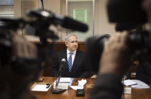FILE - Israel's Prime Minister Benjamin Netanyahu attends the weekly cabinet meeting in Jerusalem March 10, 2013.  Reuters