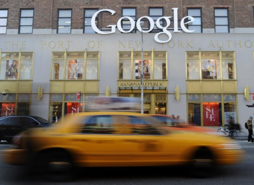 A file photo dated 03 January 2013 showing a Google logo at their New York Offices, New York, New York, USA. EPA/ANDREW GOMBERT