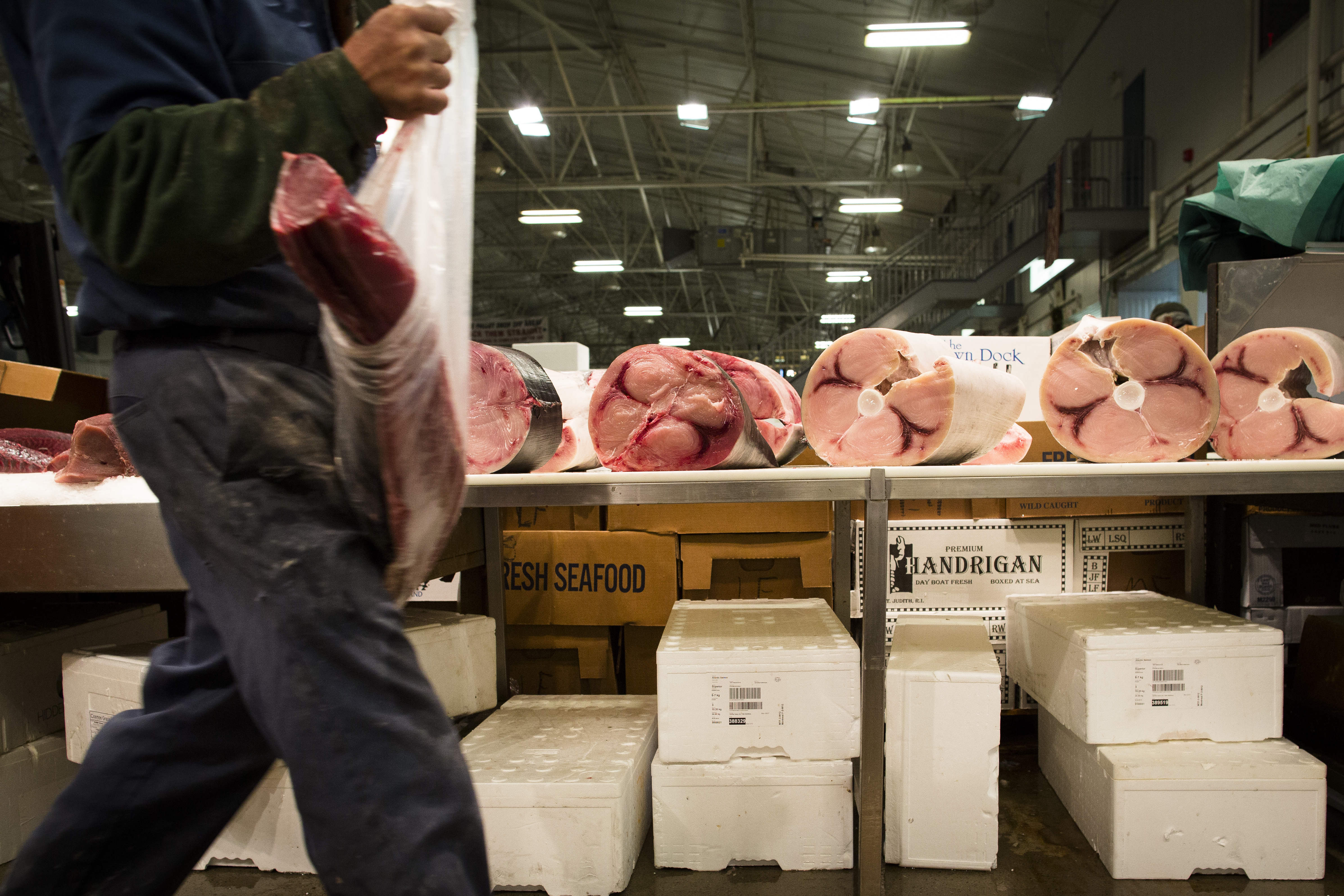 New york freshest fish traded in the dead of the nyc night for Fish market prices