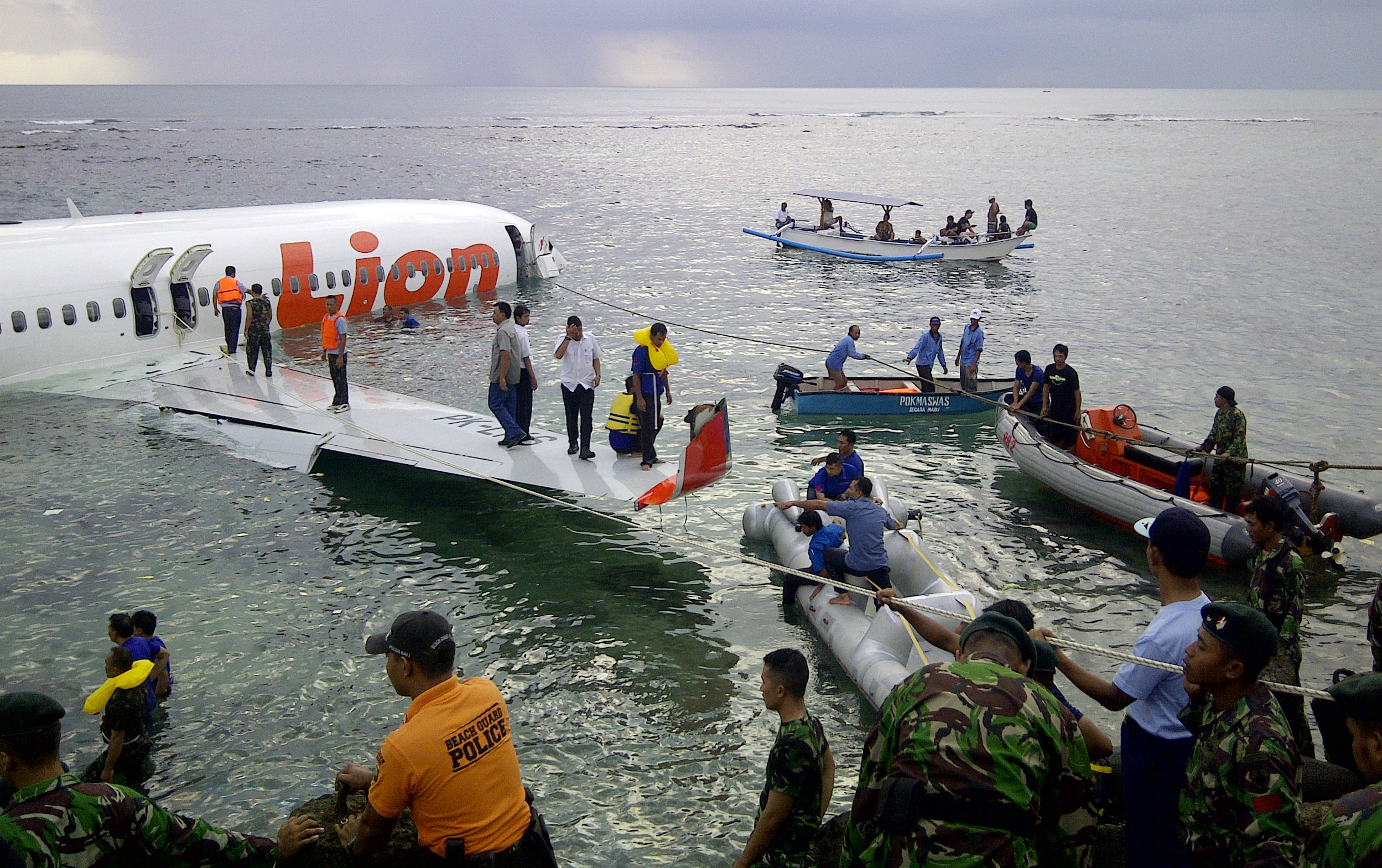 Bali, Indonesia - Miraculously, All 108 On Board Survive