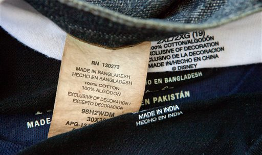 This Photo Ilration Made Thursday Dec 13 2017 Shows Labels Of Garments