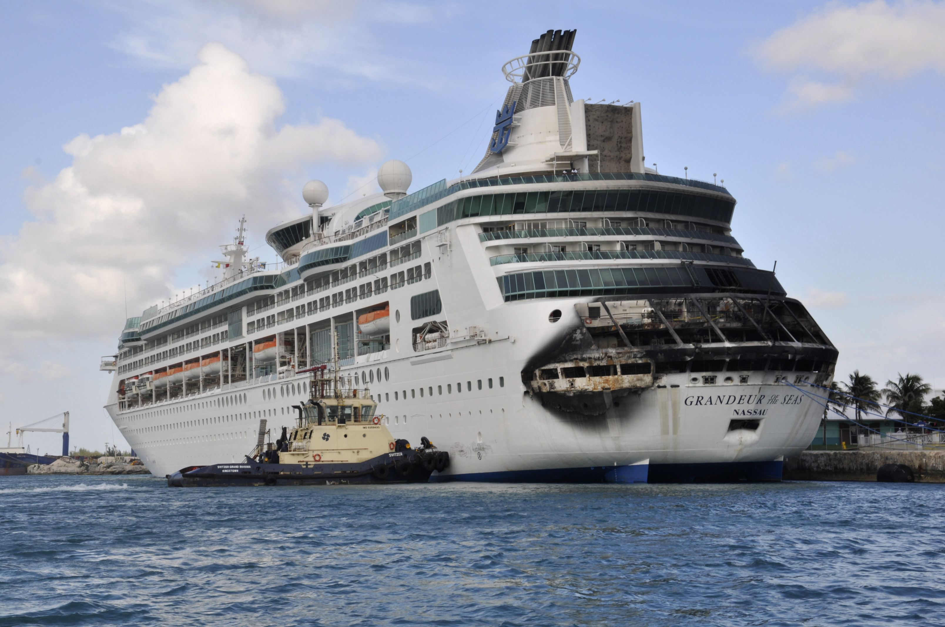 baltimore   fire breaks out aboard royal caribbean cruise ship