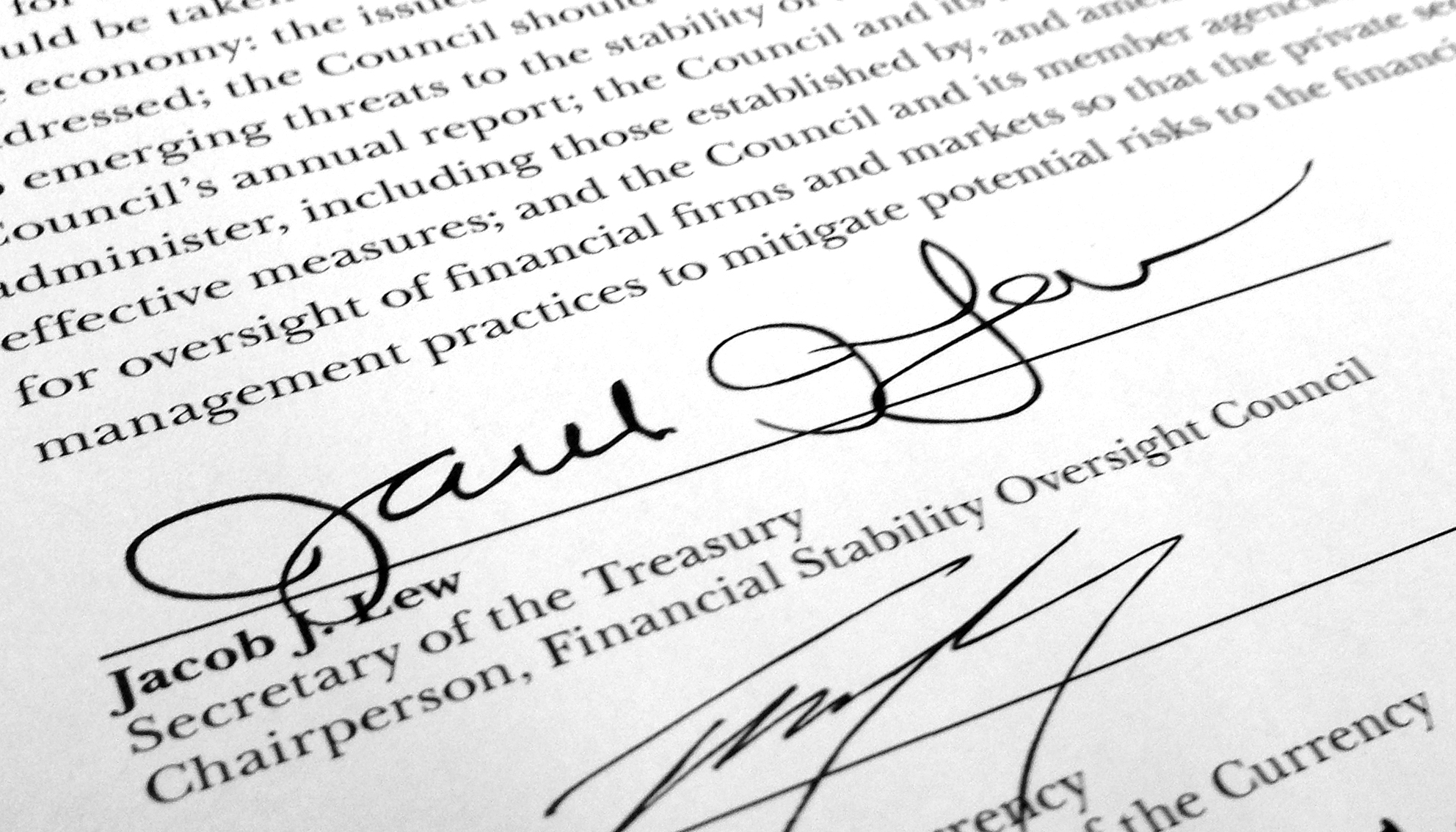 Jack Lew: What the Treasury Nominee's Signature Really Tells Us
