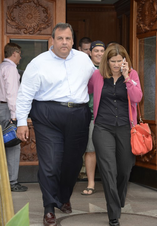 File photo of Chris Christie Governor of New Jersey and wife Mary Pat July 13, 2012. EPA/ANDREW GOMBERT