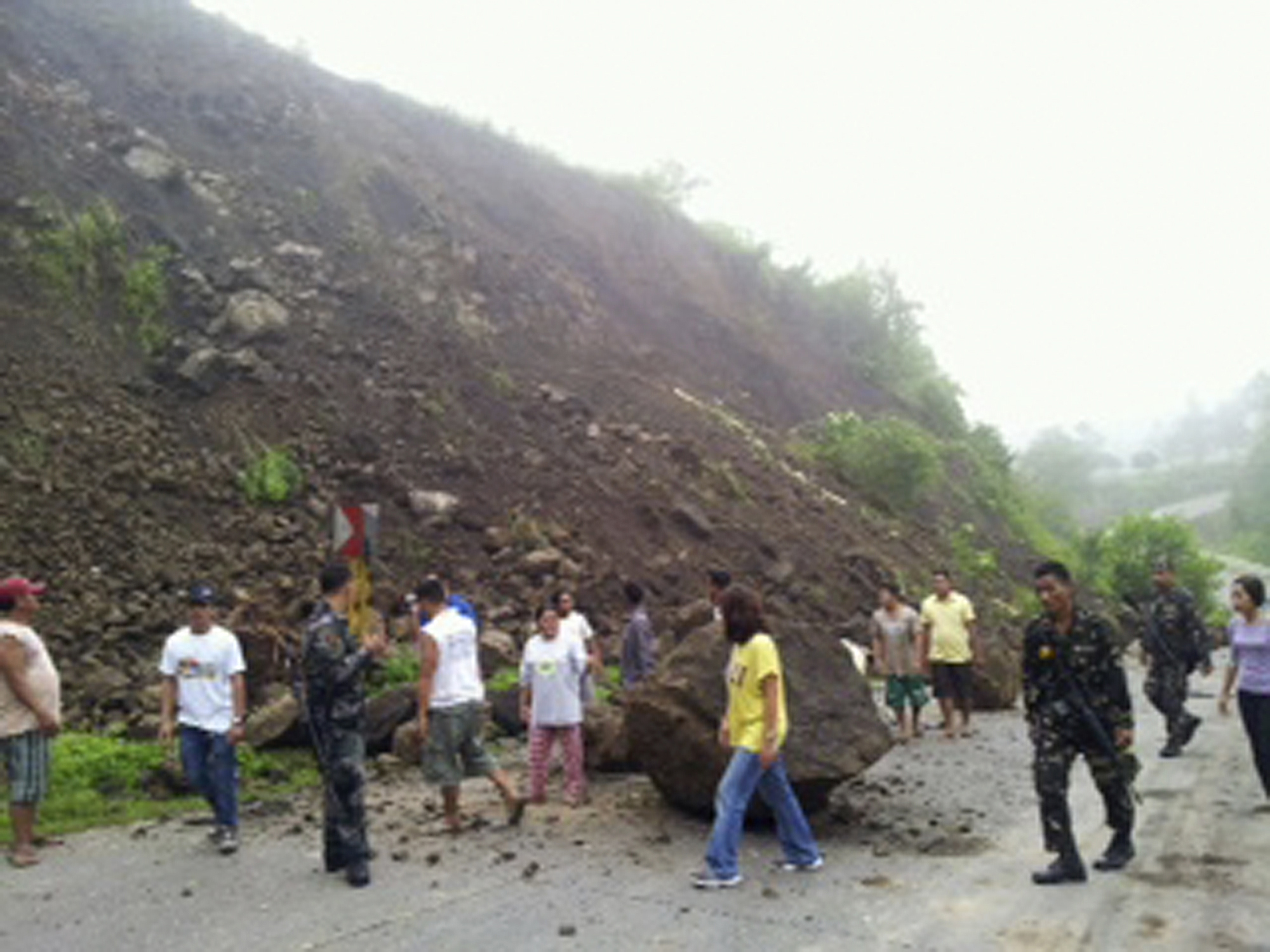philippines landslide A massive landslide buried an entire village in the southern philippines on  february 17, 2006 on february 22, the united nations office for the  coordination of.