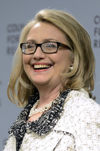 FIle photo of Hillary Clinton. EPA/MICHAEL REYNOLDS