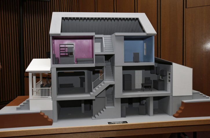 A Close Up Of A Model Of The House On Seymour Ave. Where Ariel