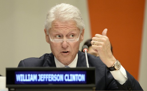 File photo: Bill Clinton, former President of the United States, speaks during the Informal meeting of the plenary of the General Assembly for the commemoration of the Nelson Mandela International Day at United Nations Headquarters in New York. EPA/ANDREW GOMBERT