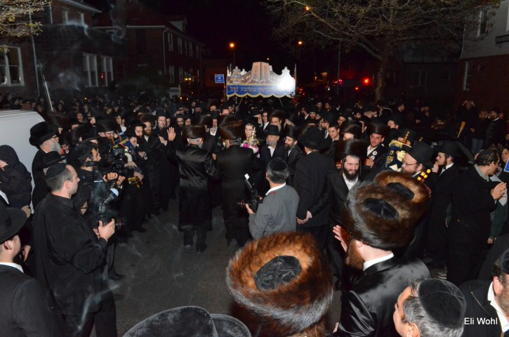 Hachnasas Sefer Torah in Seagte Section of Brooklyn, NY on Oct. 29, 2013. (Eli Wohl/VINnews.com)