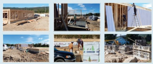Photo image from an ad in Yiddish newspaper DER YID in their recent Succos edition showing construction work at the new planned Hasidic project in Bloomingburg, NY