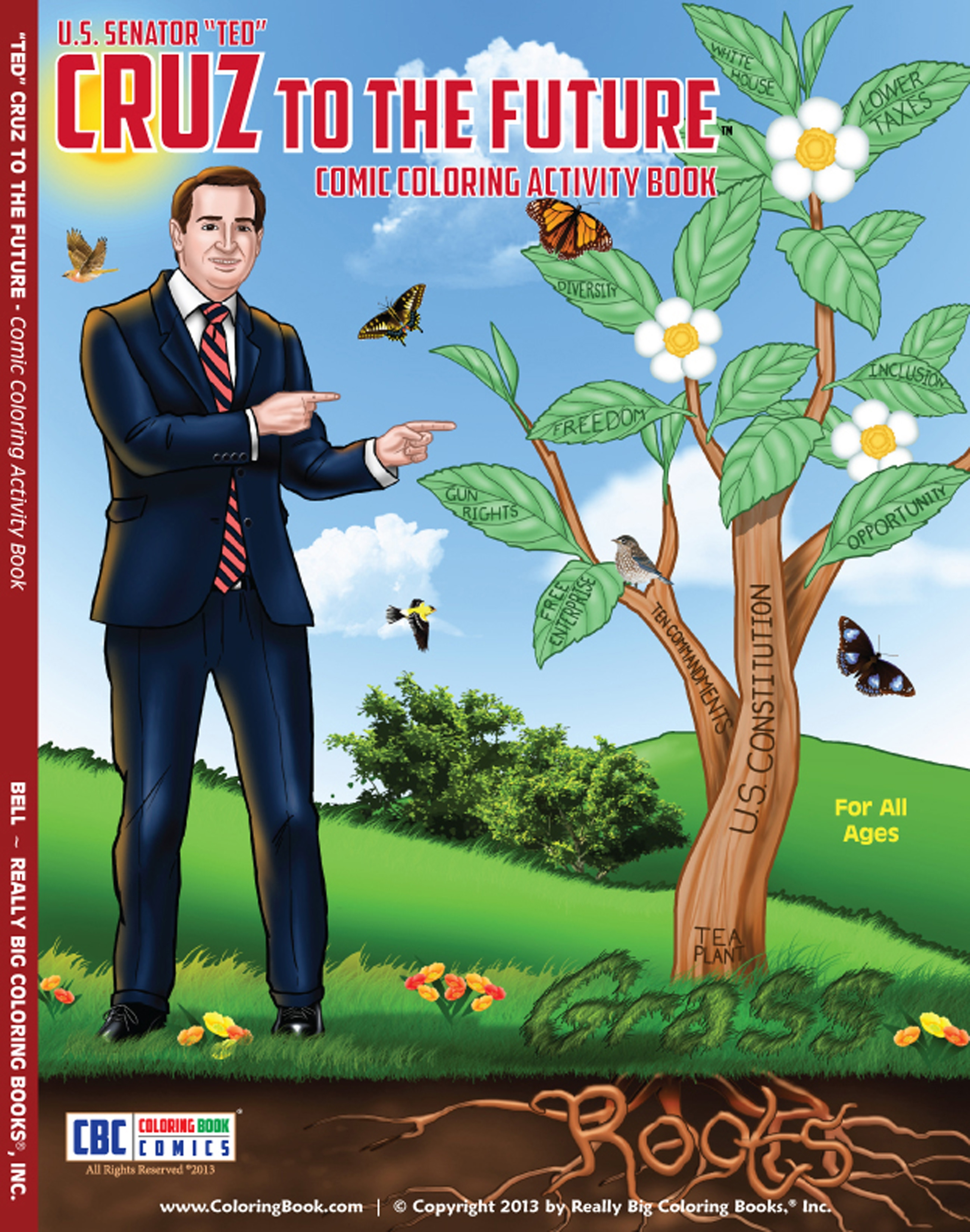 Texas Coloring Book Featuring Ted Cruz Selling Fast