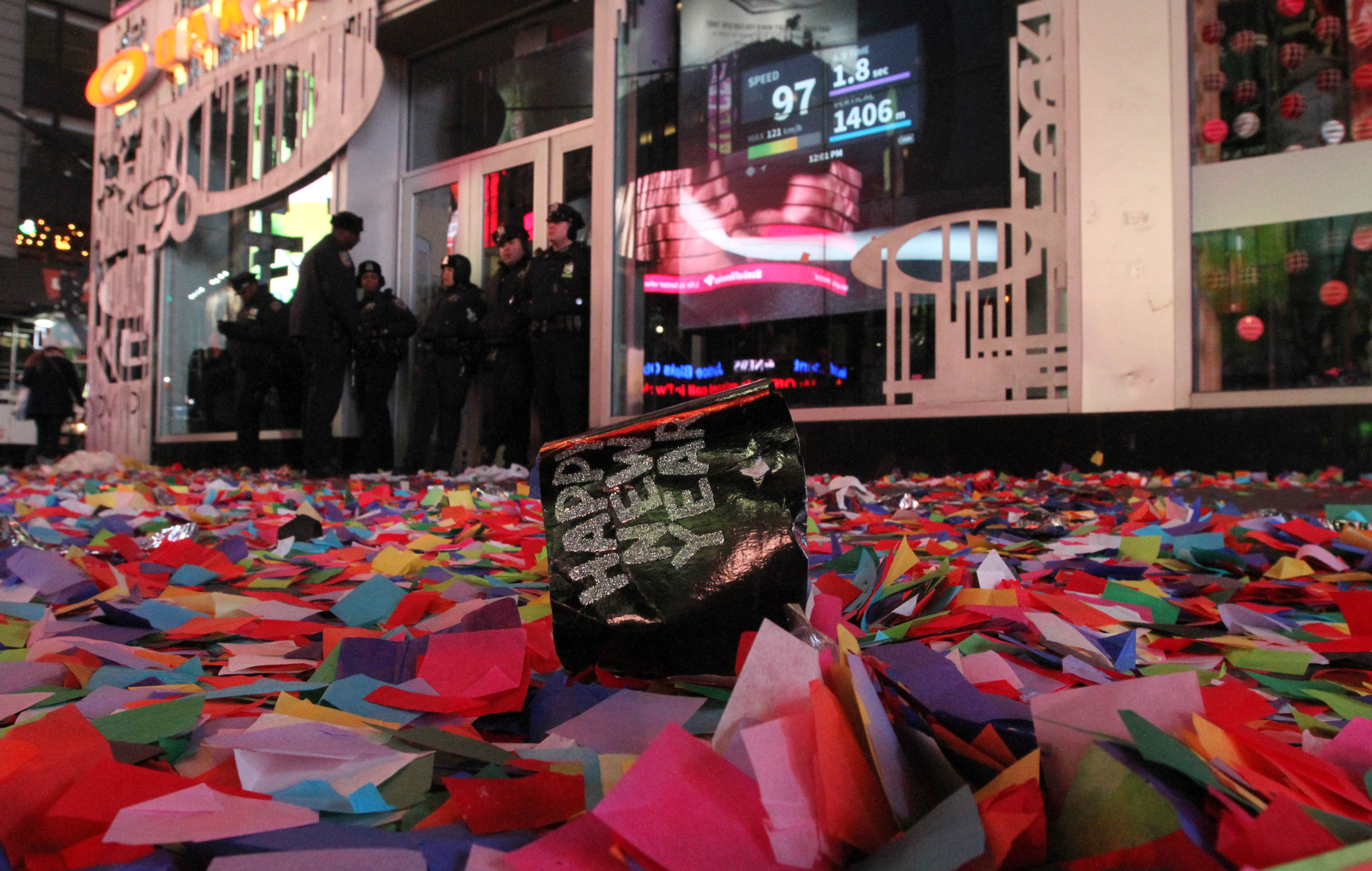 New YorkAfter The Times Square Party Comes The Cleanup