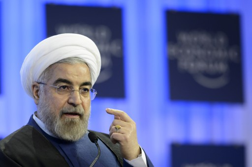 FILE - Iranian President Hassan Rouhani speaks during a panel session on the second day of the 44th Annual Meeting of the World Economic Forum, WEF, in Davos, Switzerland, 23 January 2014.  EPA