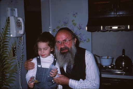 Rav Dovid  at his Grandsons Sruly Werdiger 'Upsherin' in Jan. 1984