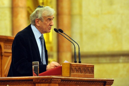 File: Holocaust survivor and Nobel Peace Prize winner American writer Elie Wiesel addresses the conference 'Hungarian-Jewish Coexistence. EPA/LAJOS SOOS HUNGARY OUT