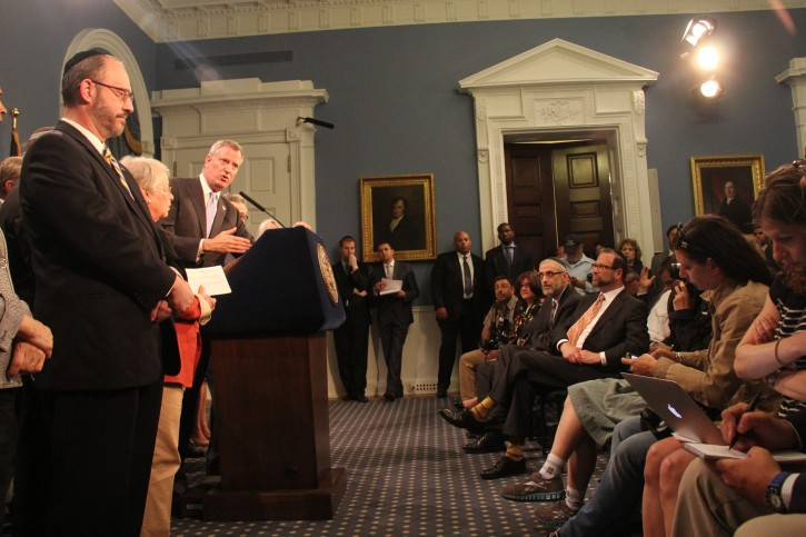 Mayor de Blasio Announce New Steps to Help Families of Students With Disabilities on Tuesday June 24, 2014. (Shimon Gifter/VINnews)