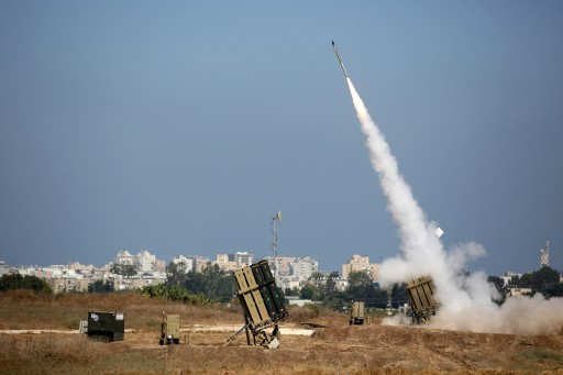 FILE - An Israeli Iron Dome defense system missile is fired to intercept a rocket fired from Gaza over the city of Ashdod, southern Israel, 08 July 2014.  Reuters