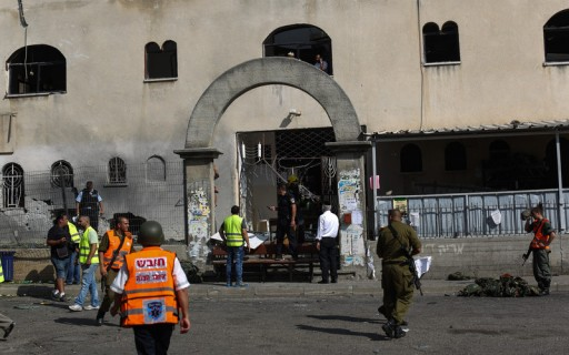 File: Orthodox Israel's and rescue teams inspect the damage to a Jewish Synagogue hit by a rocket launched from Gaza in the southern Israeli city of Ashdod, near the  Israeli Gaza Strip border, 22 August 2014. EPA/ATEF SAFADI